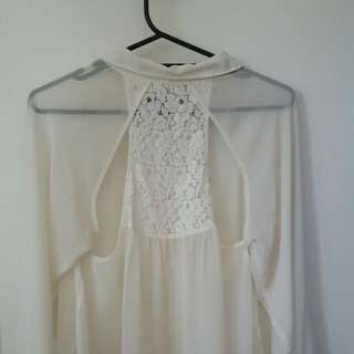 Sheer Shirt With Lace Back