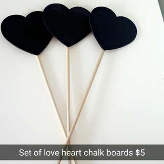 Love Heart Chalk Boards