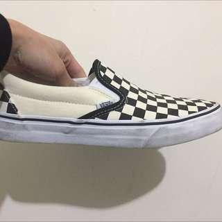 Vans黑白格 懶人鞋 Classic Slip-On