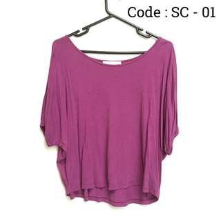 PURPLE LOOSE TOP (PRELOVED)