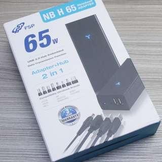 FSP 全漢 NB H 65W H65 萬用 USB筆電變壓器