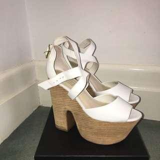 Topshop White Heels
