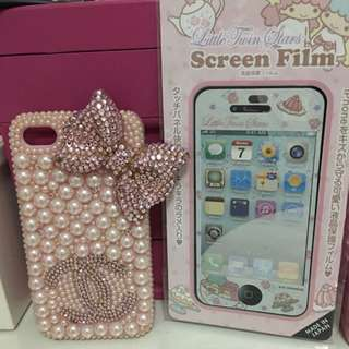 Iphone 4 And 4s Casing and Screen Film