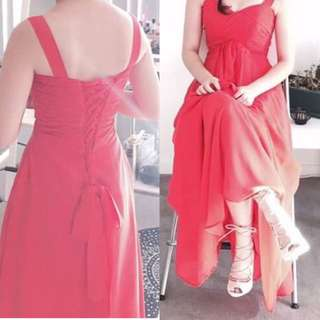 Simple Light Red Ball Dress