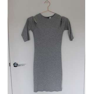H&M Fitted Grey Dress