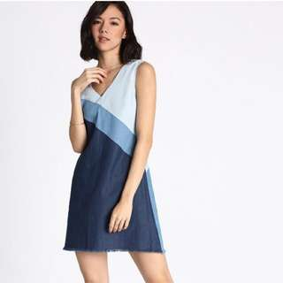 Love Bonito Galvez Contrast Denim Dress