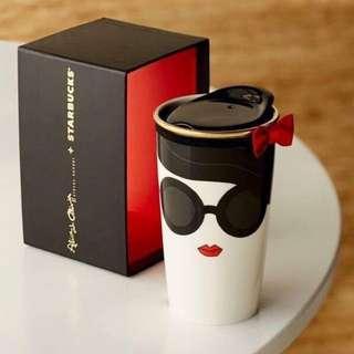 🚚 絕版限量Starbucks星巴克 x Alice +Olivia 經典紅唇💋馬克杯