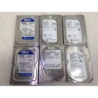 【Star 3C 】WD Seagate 500G 3.5吋-SATA 7200轉 良品硬碟