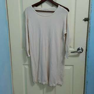 Retro Girl專櫃粉裸色針織洋裝