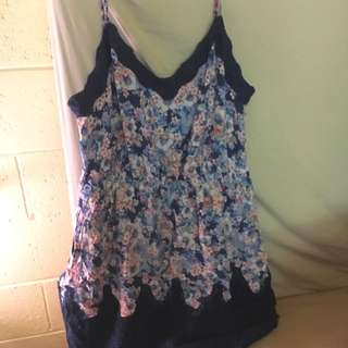 Forever New Floral Lace Dress Size 14