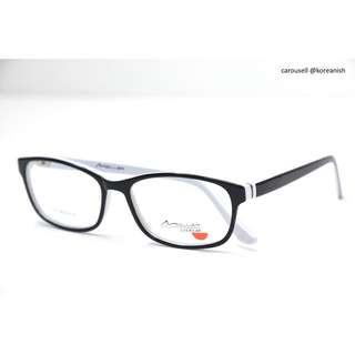 Acetate Spectacles Frame - Black And White Layered