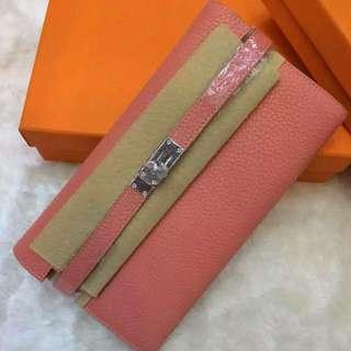Kelly wallet Togo Lobster pink *Instock *