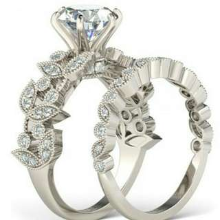Gorgeous Diamond Lab-Created Set Of 2 Rings