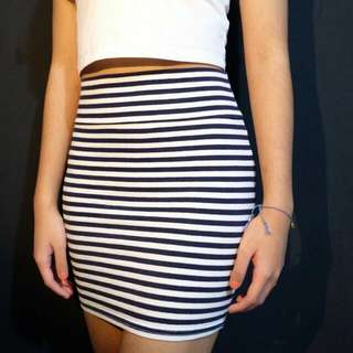 Stripes Cotton On Mini Skirt