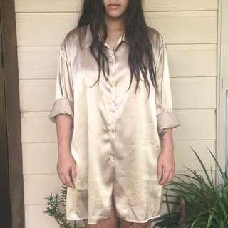 Vintage Gold Silk Shirt