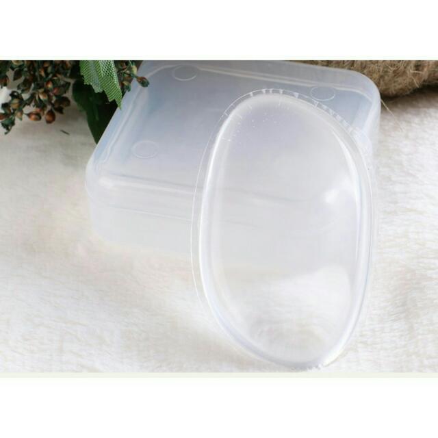 送盒子🎀日本火紅透明矽膠粉撲