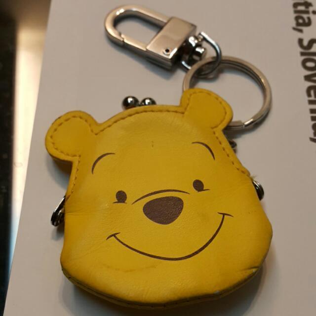 迪士尼維尼熊零錢鑰匙圈