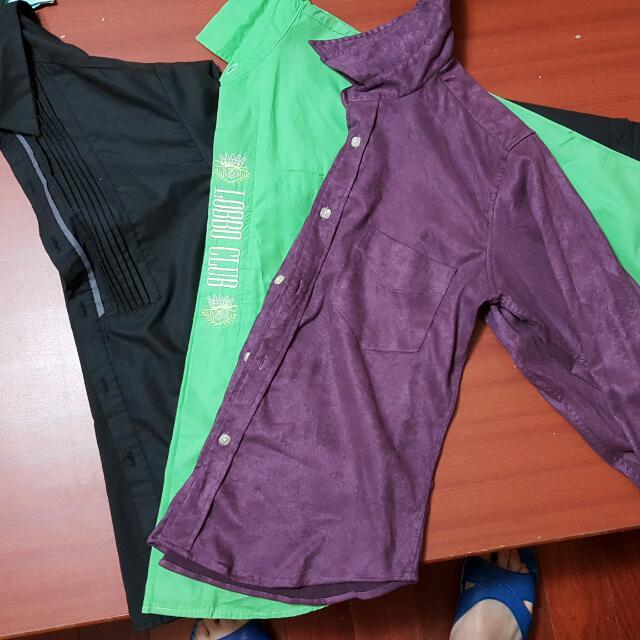 黑綠紫襯衫