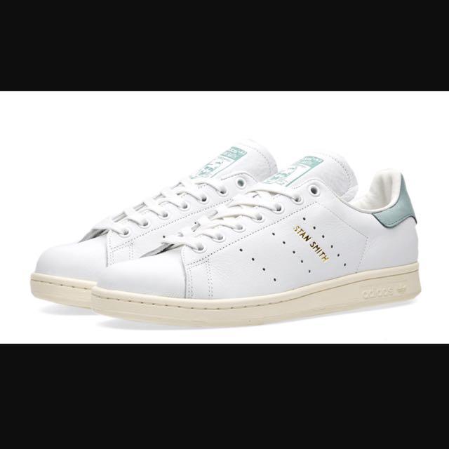 Adidas Stan Smith Vintage White Vapor Steel, Women's Fashion, Shoes on Carousell