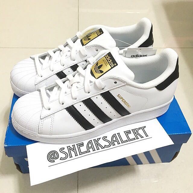 Authentic Adidas Superstar Black Stripes