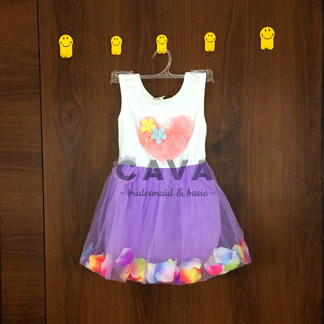 Baby Dress Baju Gaun Pesta Anak Bayi Perempuan Flower Petal Dress Bunga