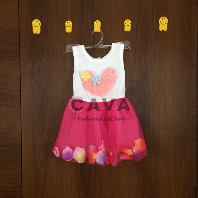 Baby Girl Flower Petal Dress Gaun Pesta Anak Bayi Perempuan Bunga Fairy Tale