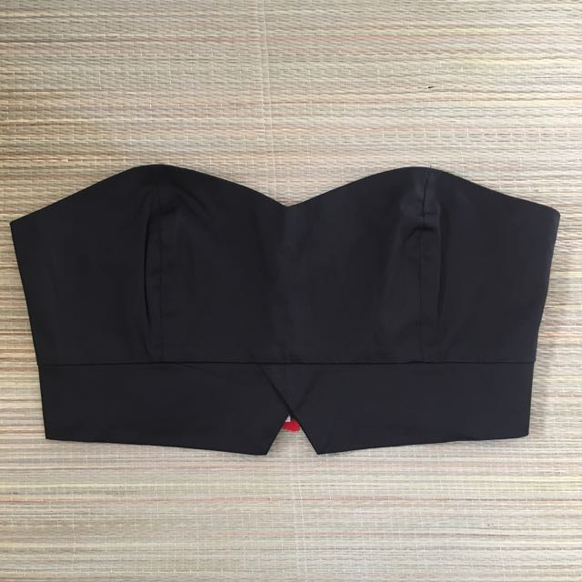 Black Bandeau Top - Size 12
