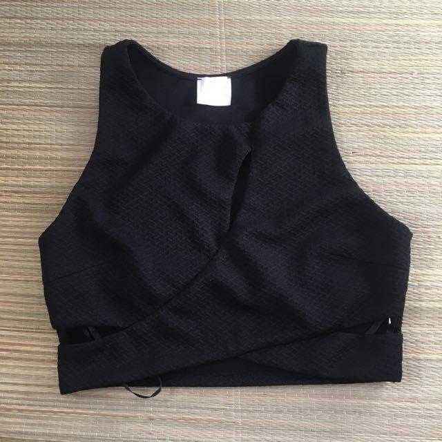 Black Crop Top - Size 12