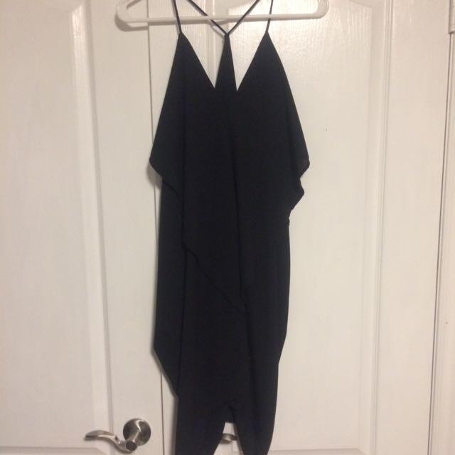 Black Low Cut Back Dress