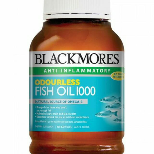 Blackmores Odourless Fish Oil 1000 Isi 400's
