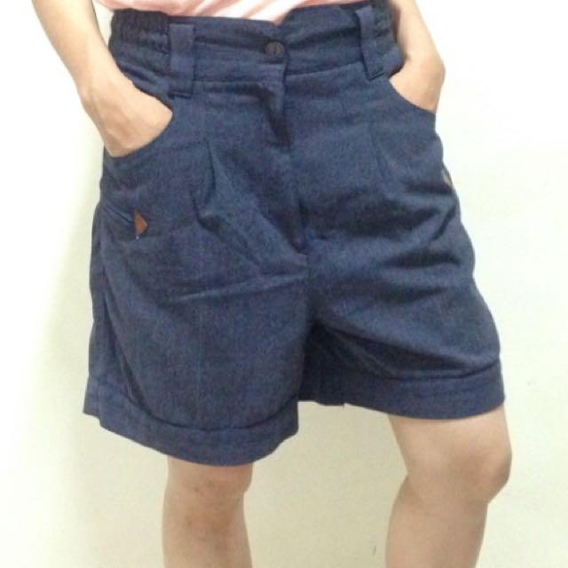 """Blue Denim Shorts - 30"""""""