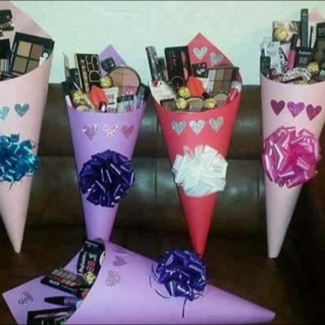 Bouquet of cosmetics