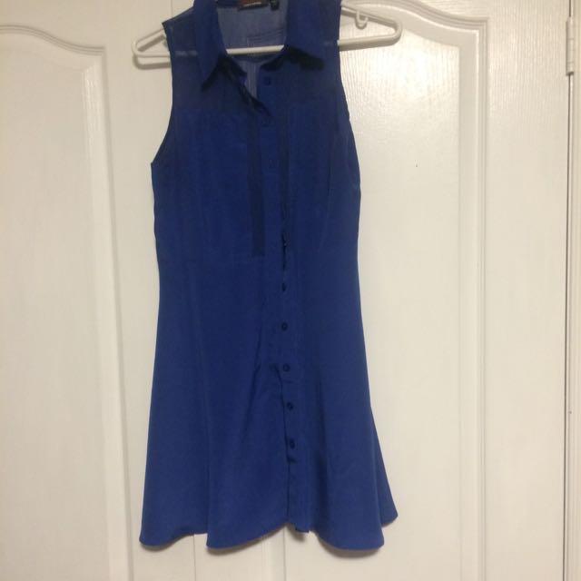 Button Up Blue Dress