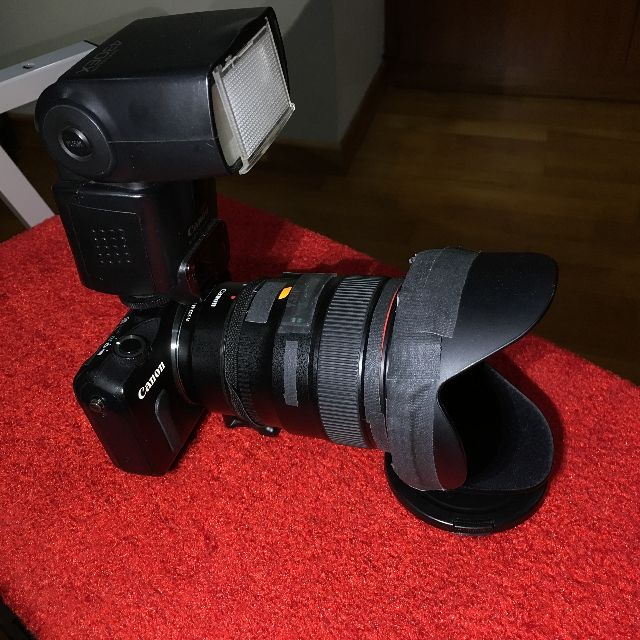 Canon EF 24mm f1.4 L ii (430 EX Flash not included) with Free Canon EOS M Body + 3rd Party EFM Adaptor