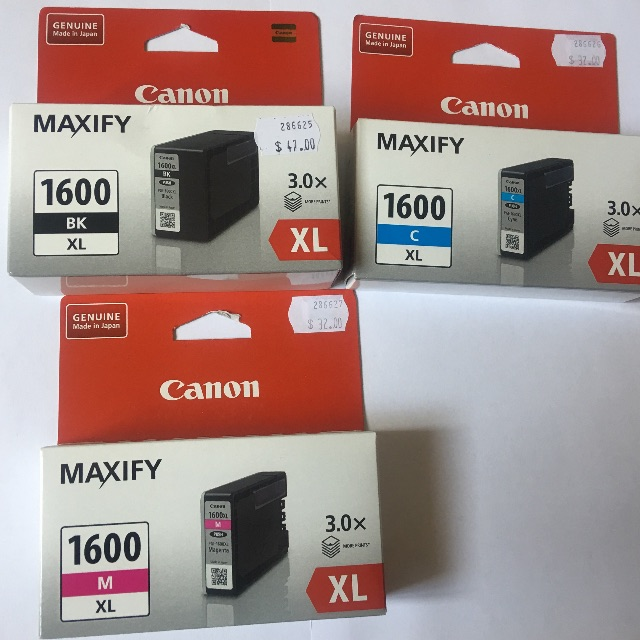 Canon XL1600 Ink