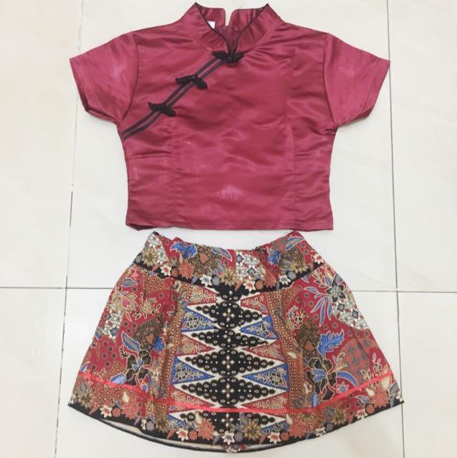 cheongsam batik skirt