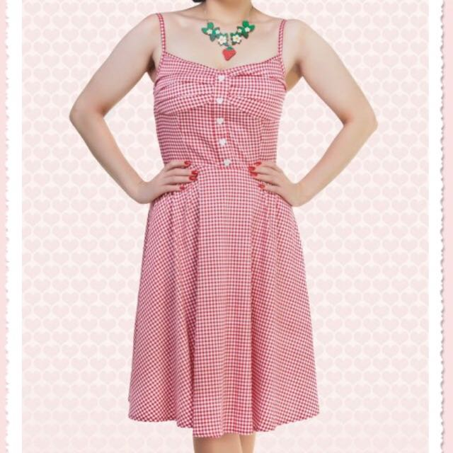 Collectif Retro Pinic Gingham Doll Dress