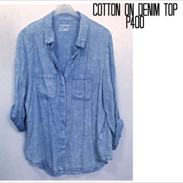 COTTON ON DENIM TOP (FREE SHIPPING)