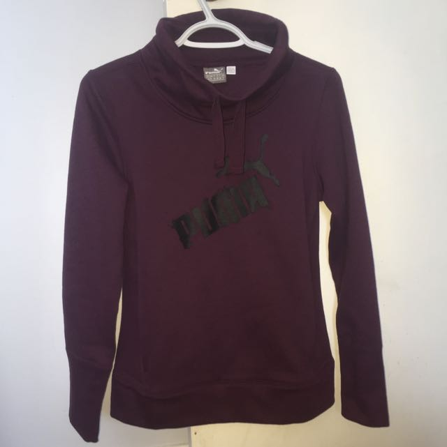 DARK PURPLE PUMA SWEATER