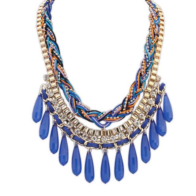 Diamond Fringe Blue