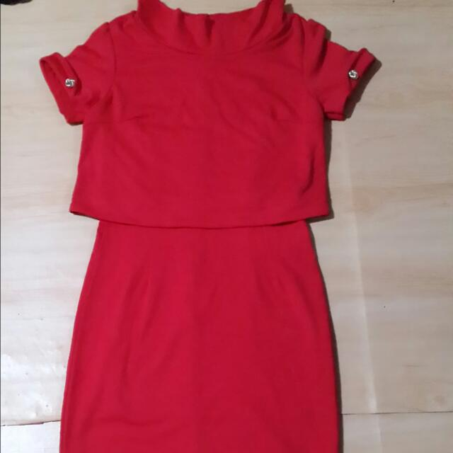 Dress Red Import New