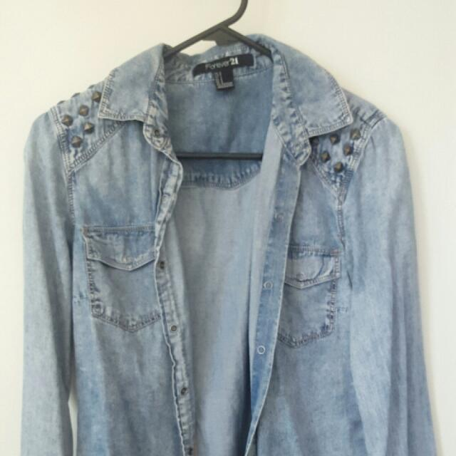 Forever 21 Chambray Shirt