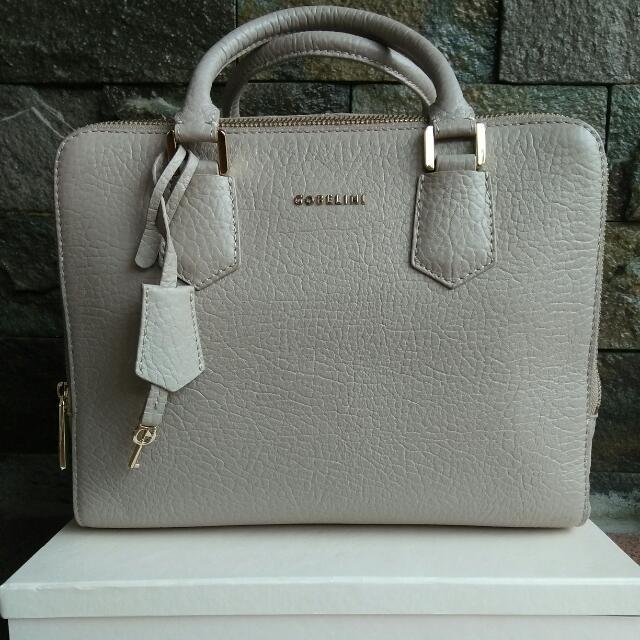 Gobelini C. Maunick Satchel 100% Authentic Genuine Leather