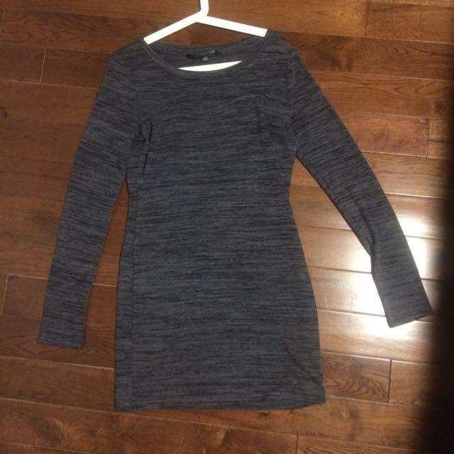 Grey Mendocino Dress