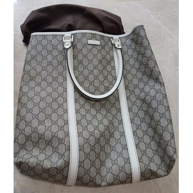 Gucci Gg Plus Coated Canvas Tote 100 Authentic Once Only Bought At 1060 From Singapore Airport Duty Free Now 800 Luxury Bags Wallets On