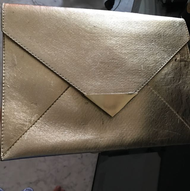 H&M Gold Big Clutch