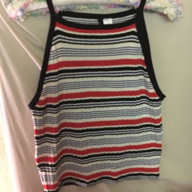 H&M ribbed striped top