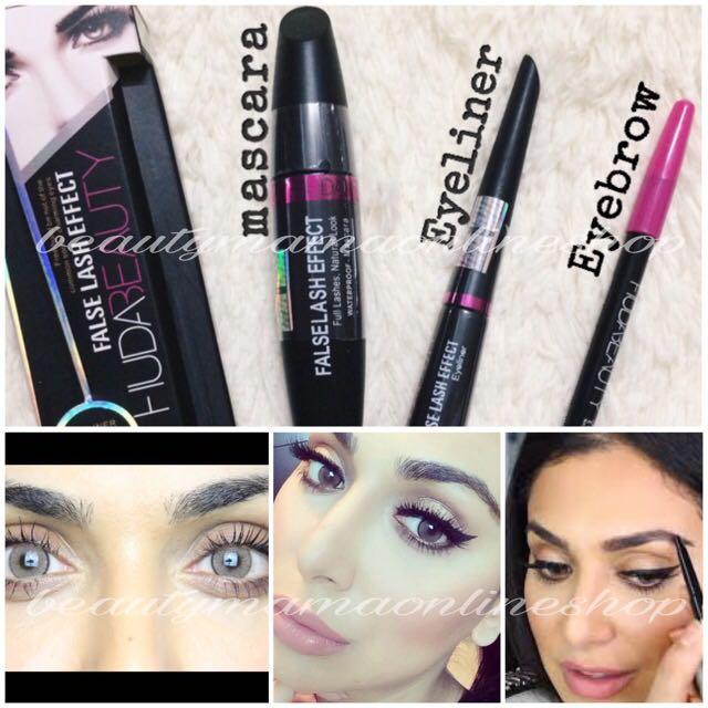 f9b16934913 Huda 3 in 1 Maskara, Health & Beauty, Makeup on Carousell