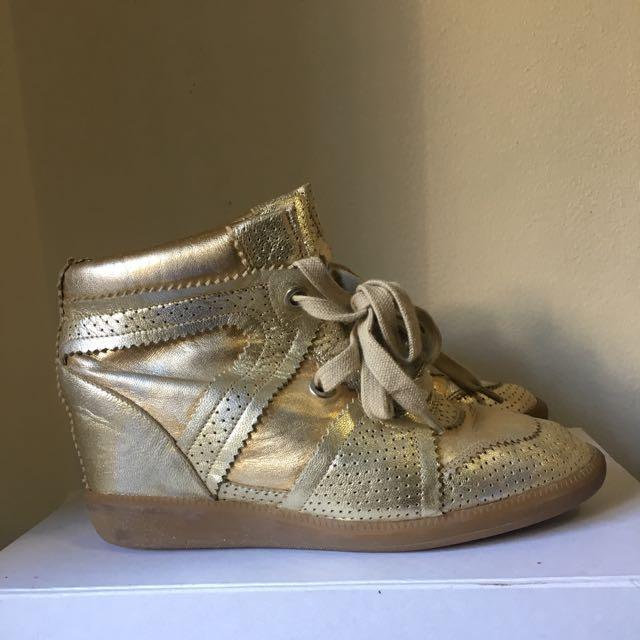 Isabel Marant Booper Gold 38