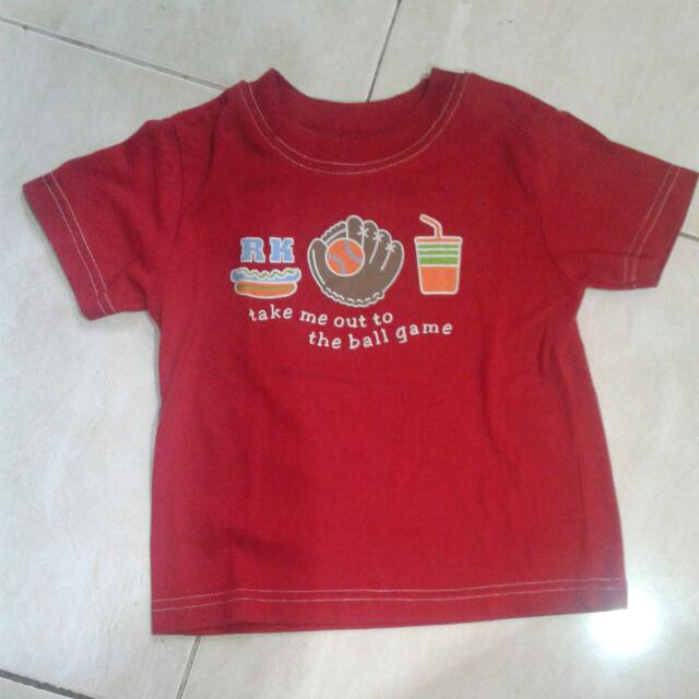 Kaos Anak Bambino Merah